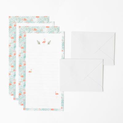 트로피칼 미니 편지지 세트 - Flamingo mint