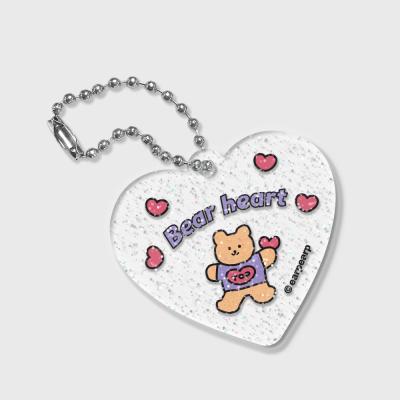 Gradation bear heart(글리터키링)