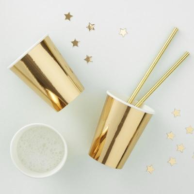 유광 골드 종이컵  Gold Foiled Paper Cups