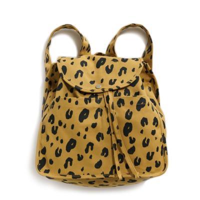 [바쿠백] 드로스트링 캔버스 백팩 Leopard (New)