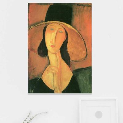 주문제작 액자 모딜리아니 큰 모자를 쓴 잔 에뷔테른