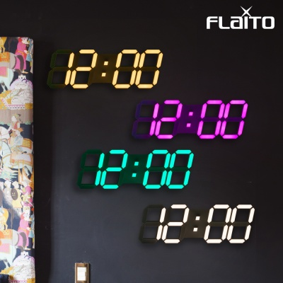 플라이토 컬러 3D LED 벽시계 시즌4 JS-i29