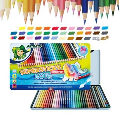 지구화학 졸리 아쿠아(수채) 색연필 36색