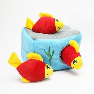 지피포우즈 숨은 물고기 찾기 간식볼&삑삑이 애견/강아지 장난감