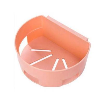 미니멀 다용도 욕실정리 선반 핑크 1개