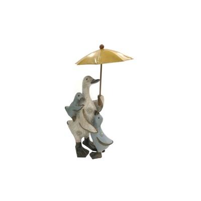 노랑 우산 프로방스 가족오리