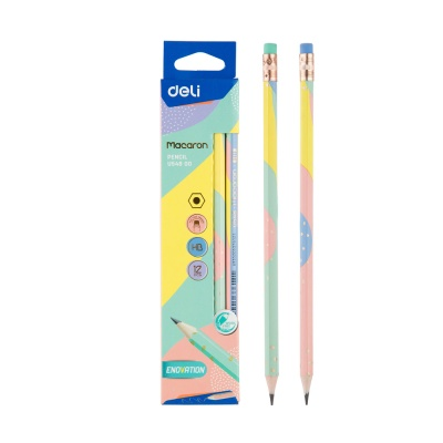 DELI 마카롱 지우개형 연필 HB EU54800