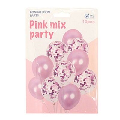 컨페티풍선10개입-핑크 고무풍선 파티용품