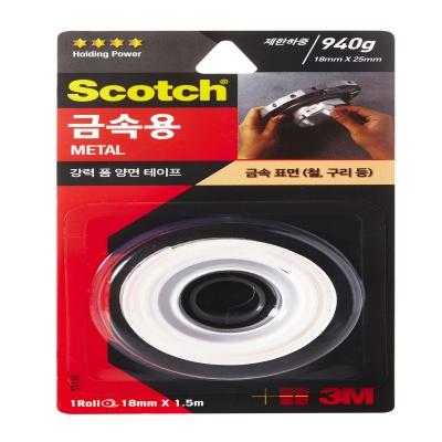 3M 스카치™ 강력 금속용 폼 양면테이프 ST115