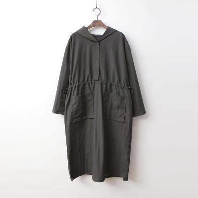 Hooded Pocket Long Dress