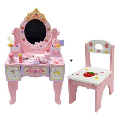 [무료배송][들딸기]디럭스 왕관 화장대+의자 세트