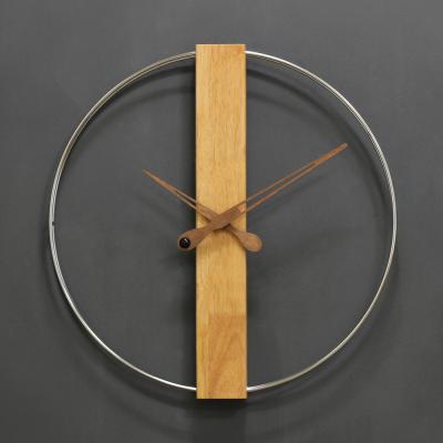 (khyn014)직사각 우드 와이어 시계 (크롬)