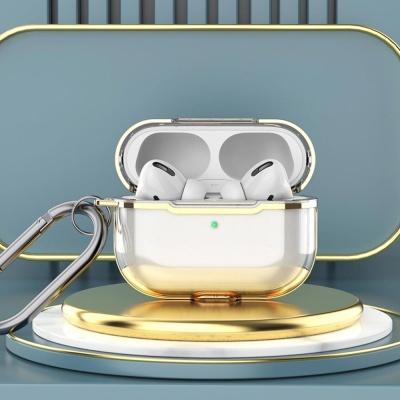 에어팟프로케이스 1 2세대 투명 실리콘 철가루스티커