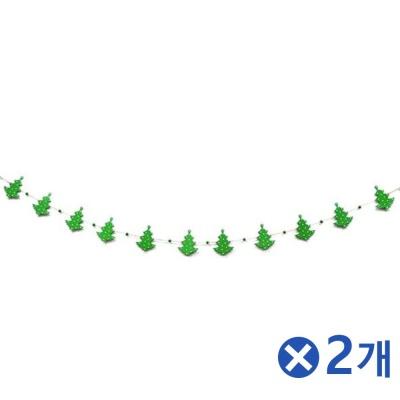 나무재질 크리스마스장식 트리모양 가랜드 1.8mx2개