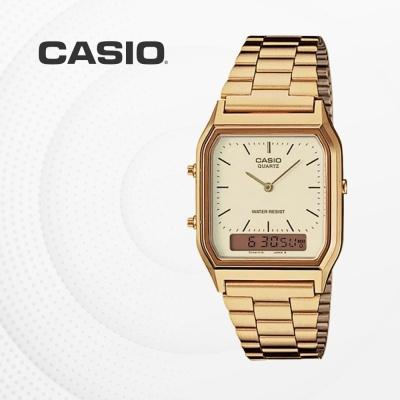 카시오 아날로그 메탈 금장 손목시계 AQ-230GA-9D