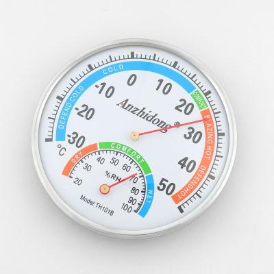 화이트 아날로그 온습도계 / 벽걸이 탁상 온도계