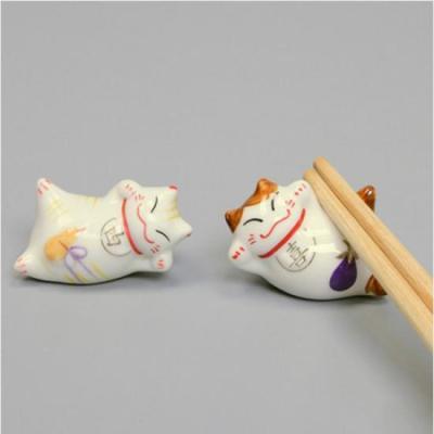 미니멀 고양이 도자기 수저받침 1개