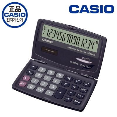 카시오 휴대용 일반 계산기 SL-240LB