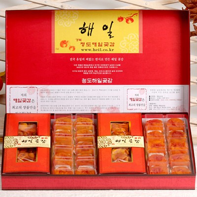 [무료배송] [해일곶감]고품격선물세트 대1호(반건시60gx20입)(청도감말랭이800g) / 고급 선물 보자기 포장