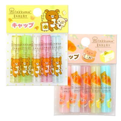 (일본직수입) 리락쿠마 연필캡 5개입 (핑크,옐로우)