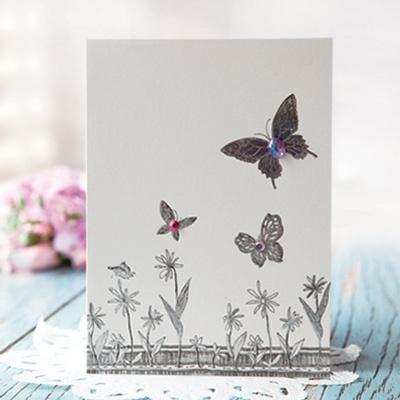 나비 꽃 카드 FT1037-4