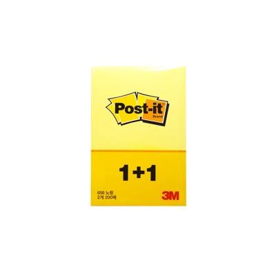 1+1 3M 포스트잇 656 직사각형 점착 메모지[00699445]