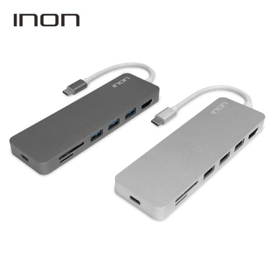 USB C타입 to 3.0 7포트 with HDMI SD MicroSD 허브 IN-UH210C