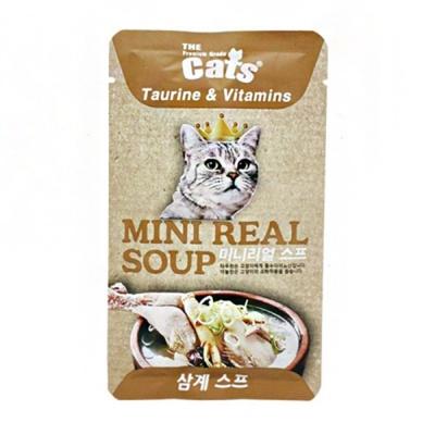 더캣츠 미니리얼 파우치 삼계 스프 고양이 건강 간식