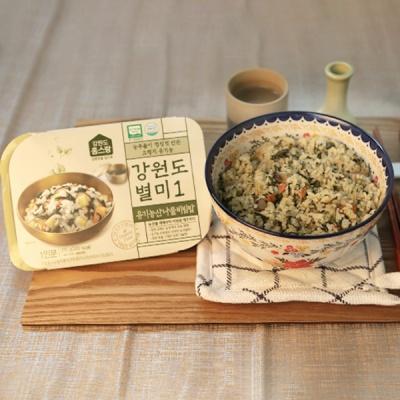 [건강한 한끼] 강원도 유기농 산나물비빔밥 210gx3팩
