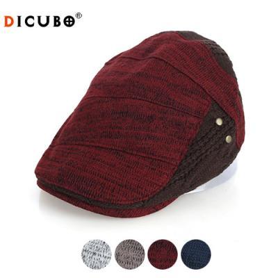 [디꾸보]절개 배색 플랫 벨트 헌팅캡 모자 DCN-ACE284