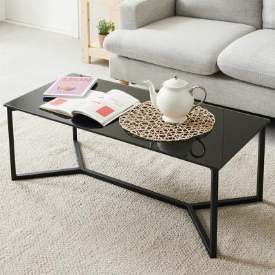 심플라인 강화유리 철제 테이블 1100