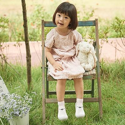 [빅토우즈] 화이트베어 핑크 아기양말신발
