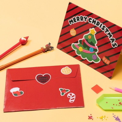 크리스마스 보석십자수 편지 카드 만들기 키트