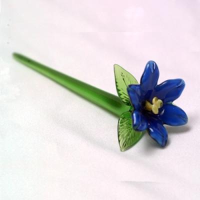 [마누크리스탈] 세련된 인테리어 블루 플라워(1P) 장식소품
