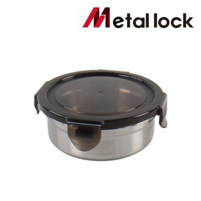메탈락 스텐밀폐용기 (원형1호 20개입)