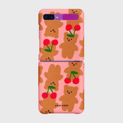 Dot cherry big bear-pink(Z플립-하드)