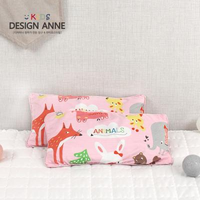 [디자인엔] 알러지케어 애니멀즈 키즈메밀베개-핑크