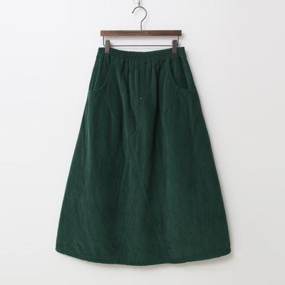 Corduroy Padding Full Long Skirt