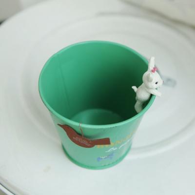 양철토끼 미니 수납 화분(옐로우)