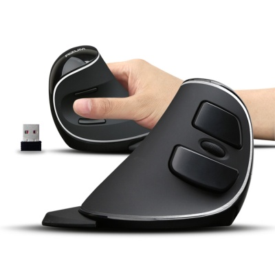RIZUM 무선 버티칼 마우스 M2 (인체공학디자인 / 러버재질 / 손목터널증후군 예방제품)
