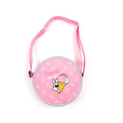 팬콧 원형 크로스백 핑크