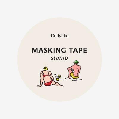 마스킹테이프 : stamp - 22 Vacation