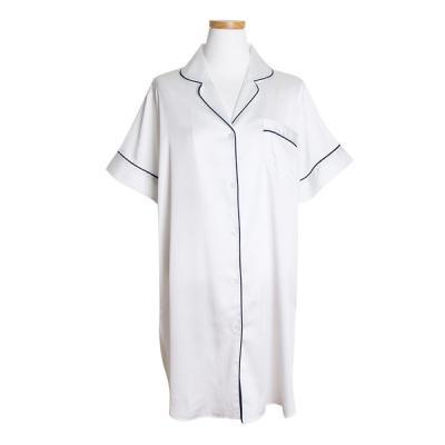 [쿠비카]테투리 파이핑 반팔 원피스 여성잠옷 W168
