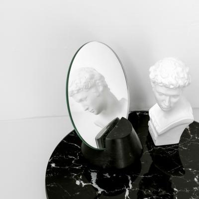 마블 스탠드 거울 (블랙)