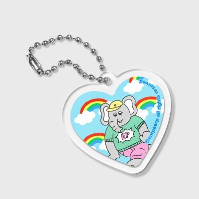 Heart kkikki rainbow cloud-sky blue(키링)