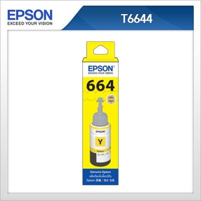 엡손(EPSON) 정품 잉크 T664400 Yellow T6644 L100 / L110 / L200 / L210 / L300 / L350 / L355 / L550 / L555 노랑색잉크