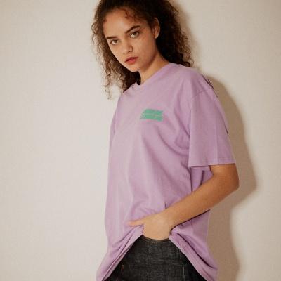 레트로 프린트 티셔츠(남여공용) 퍼플