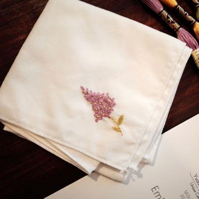 프랑스자수 손수건 DIY 키트 - 라일락 Lilac