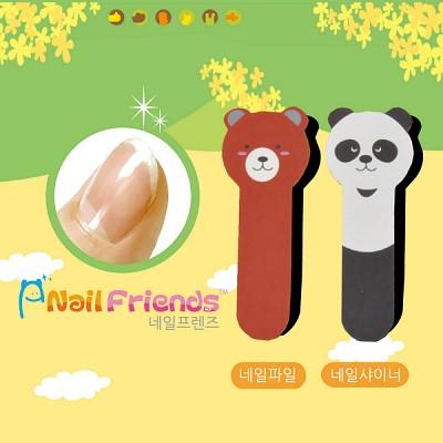 네일파일 and 샤이너 (Bear and Cat Friends-bear3)