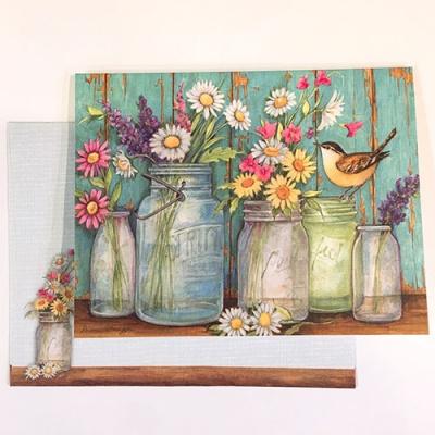 일러스트카드-Flower jars